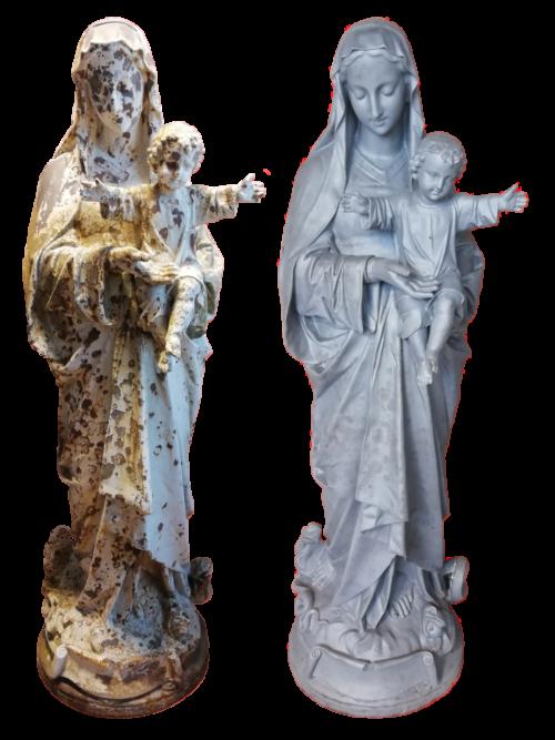 Statue Vierge du Lycée St François